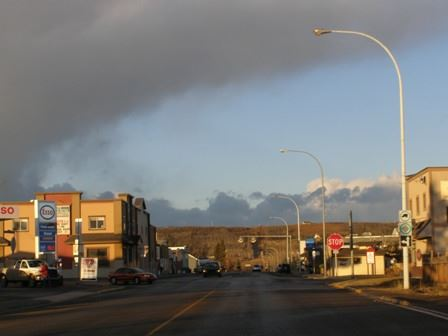 A Chinook Arch over the Town of Black Diamond, AB